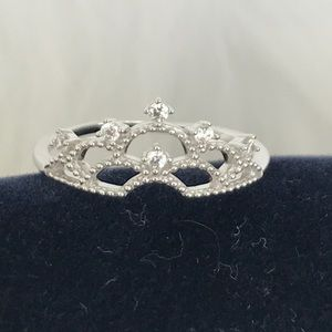 9.25 silver crown ring